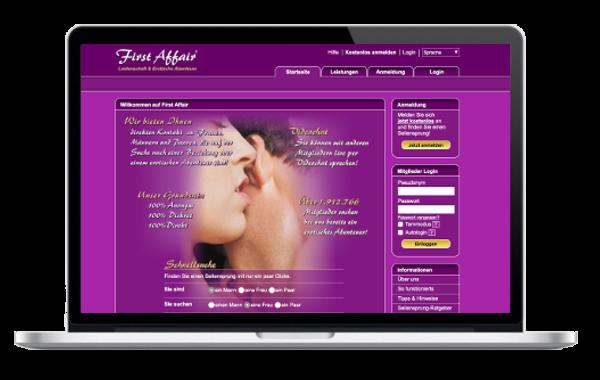 FirstAffair - Das Portal zu Ausleben Deiner erotischen Leidenschaft und sexuellen Phantasien